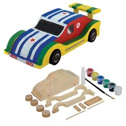 Paint Your Own Wooden Racing Car Build Make Craft Kit Little